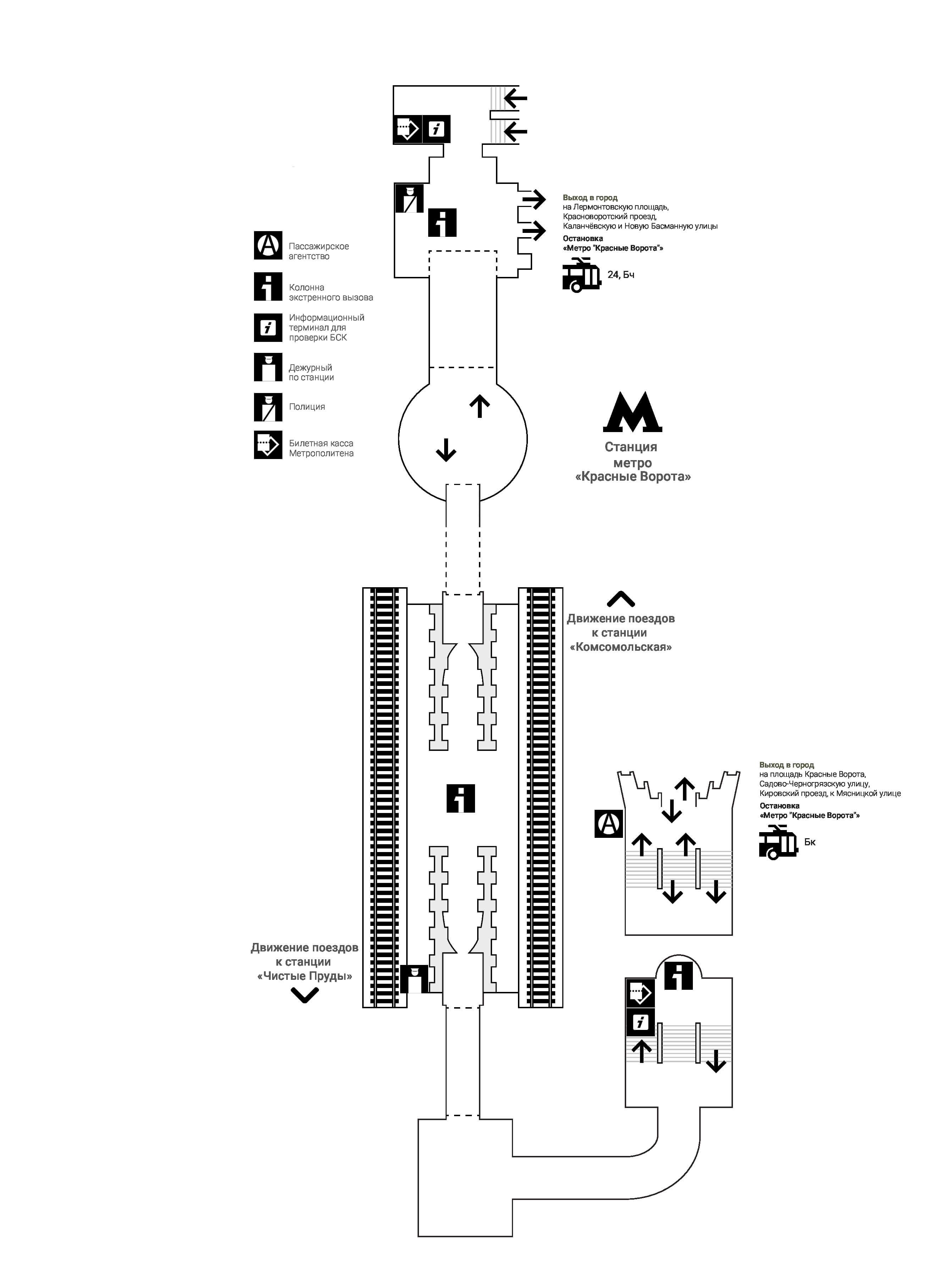 Красные метро схема проезда в метро