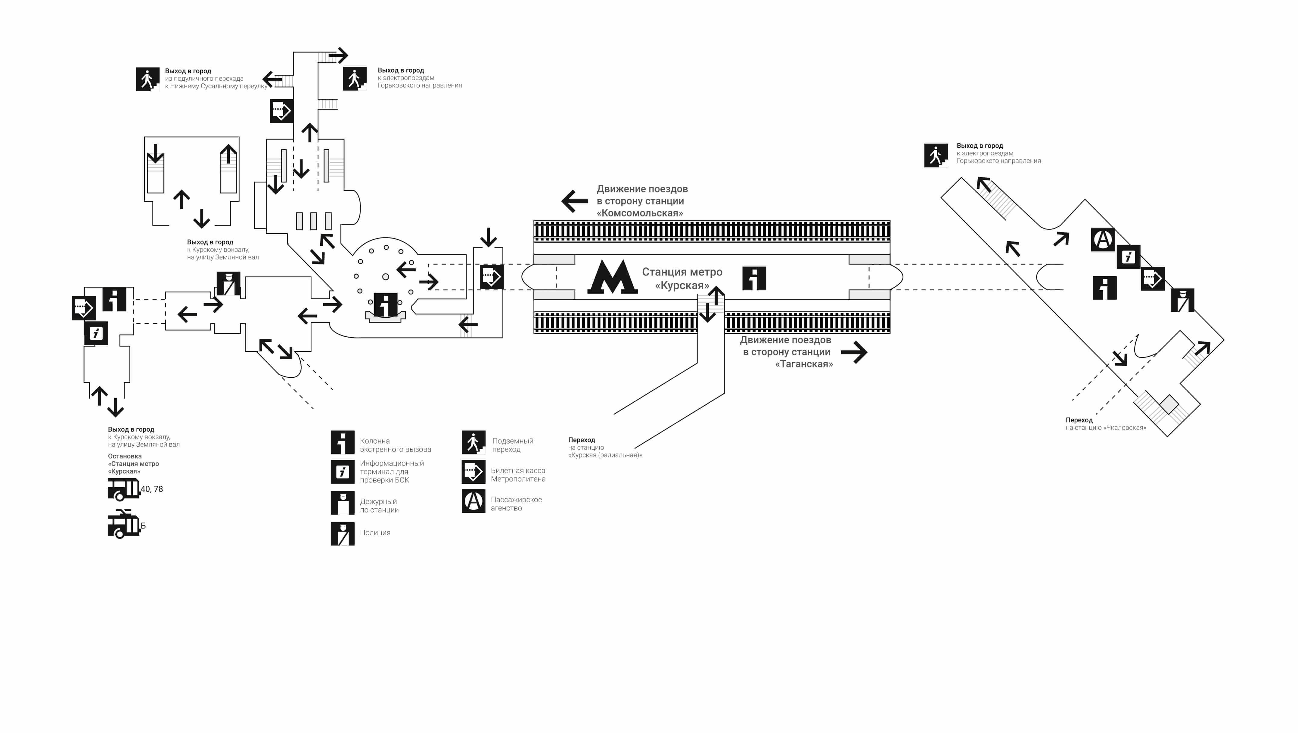 Схема метро курском вокзале фото 390