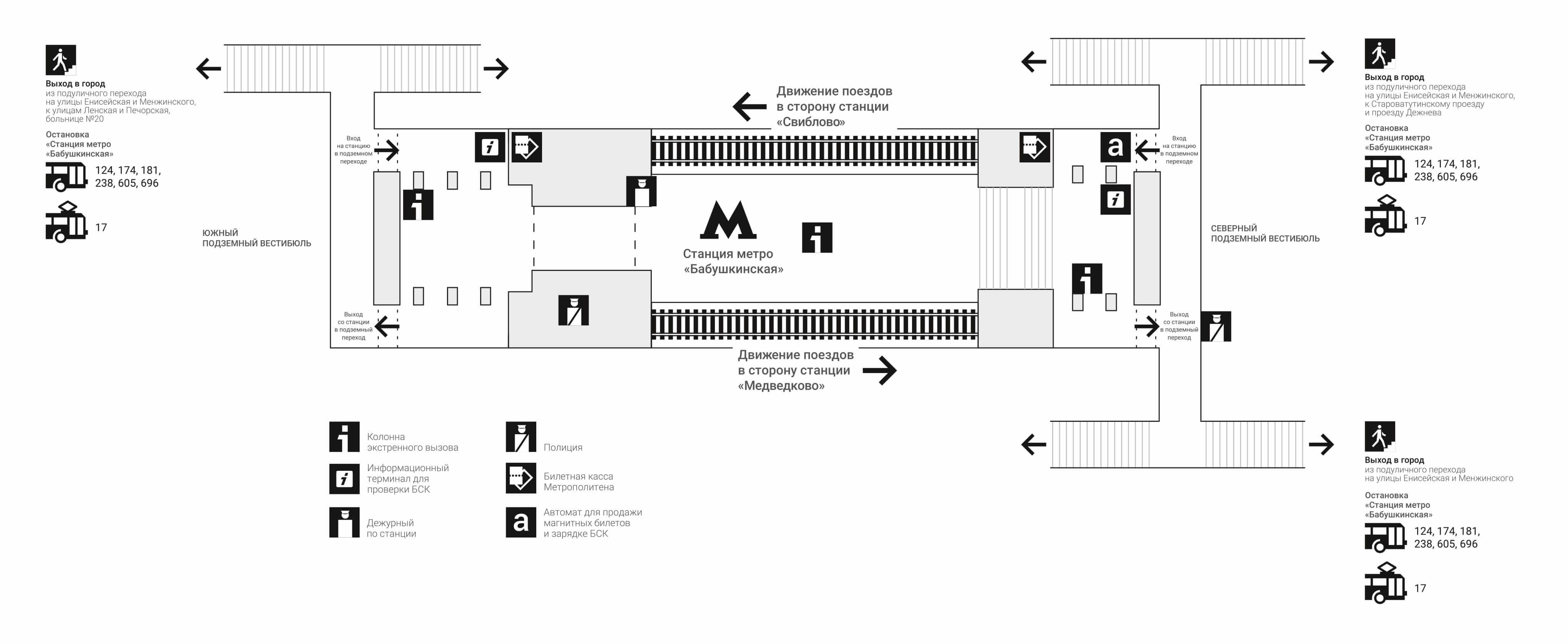 Схема станции ботанический сад