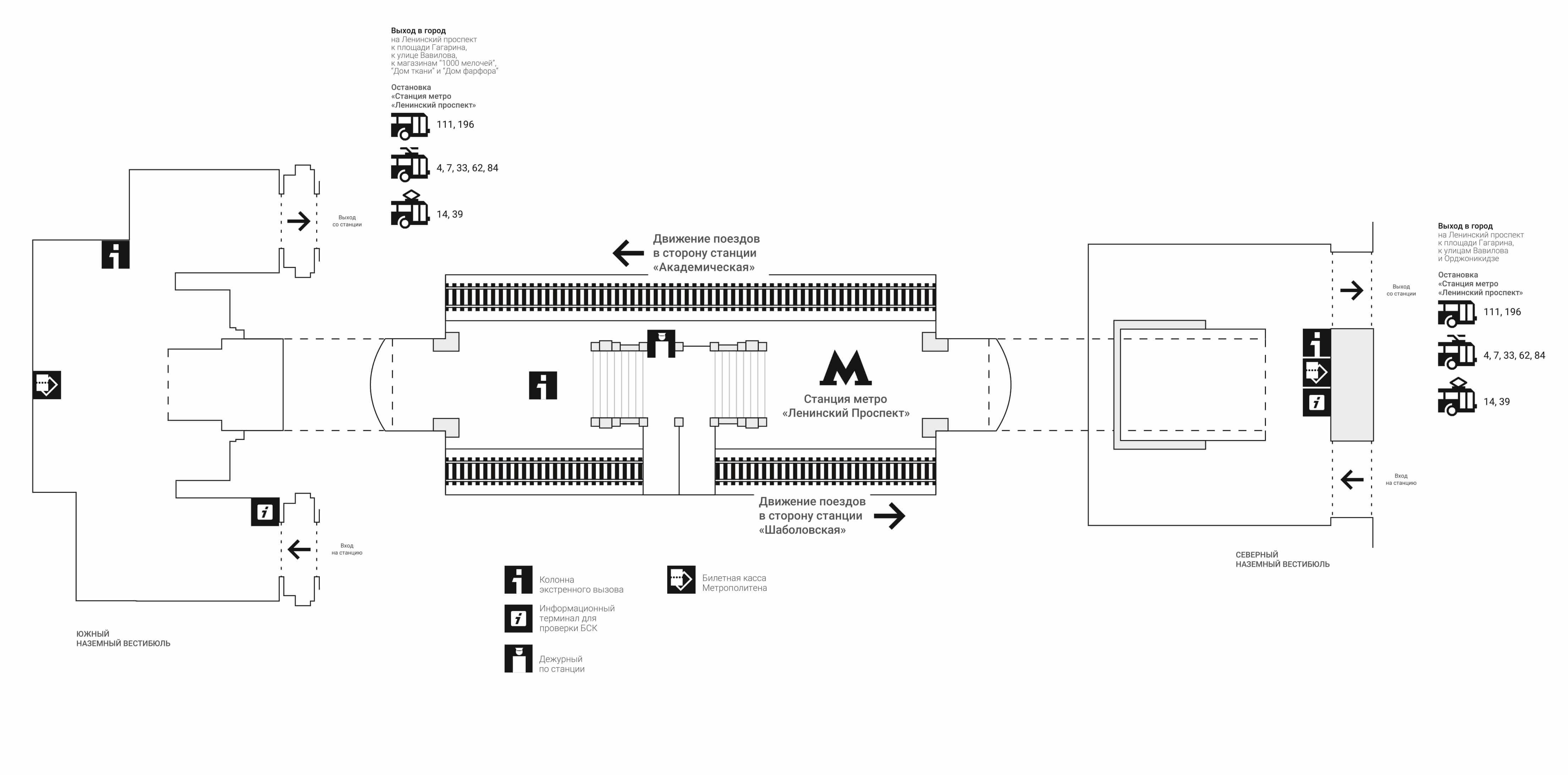 Метро ленинский схема